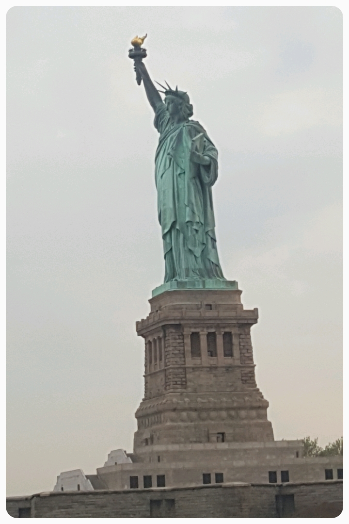 There are few statues in the world that are not of a specific person and are instead dedicated to an idea, and the Statue of Liberty (as seen from our river cruise) is definitely the most famous statue in the world.