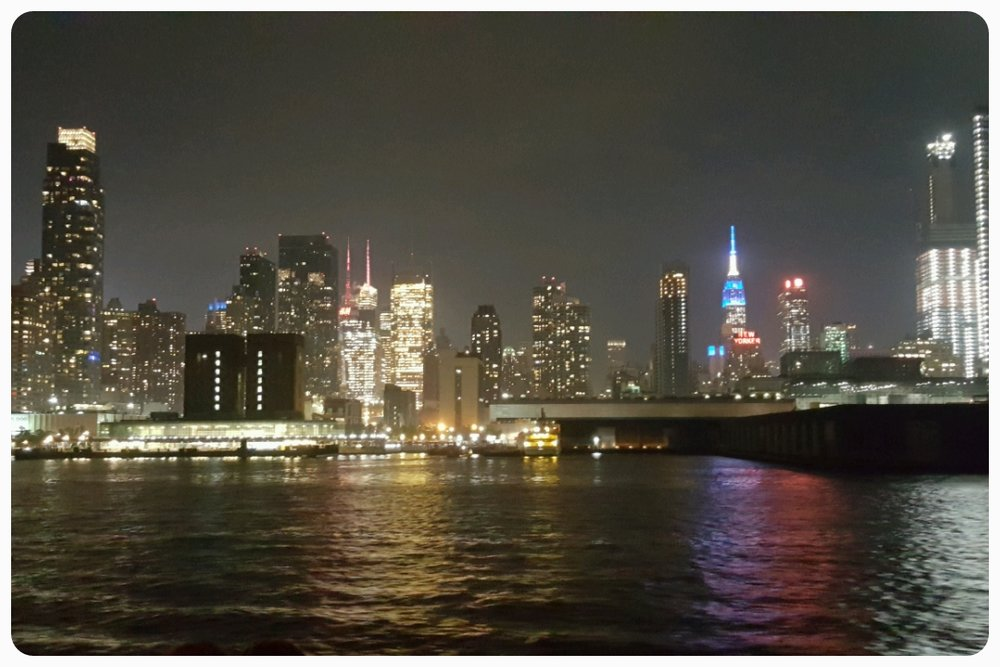 A view of the Midtown skyline from the river cruise - Manhattan actually has two distinct skylines: Lower Manhattan (dominated by the new One World Trade Center) and Midtown (where the Empire State Building reigns supreme)