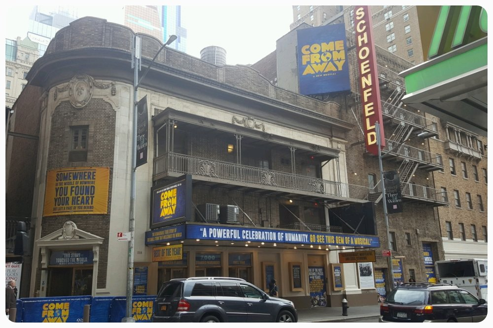 Or if you happen to be New York, it's on Broadway at the Schoenfeld Theater