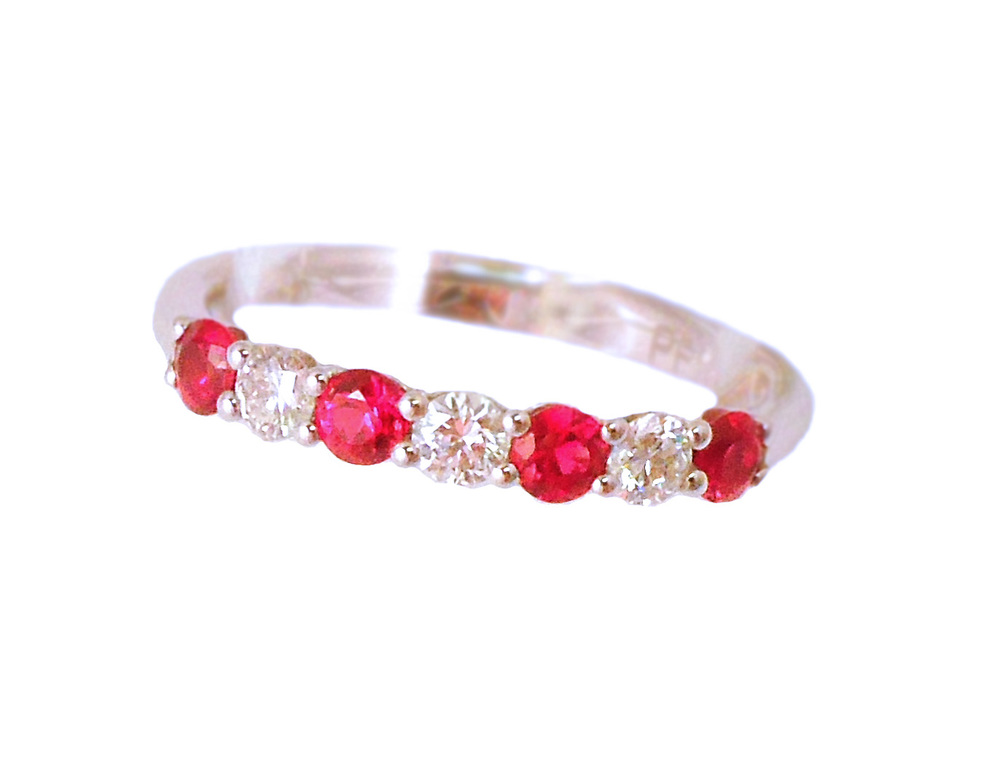 18K Ruby & Diamond Band