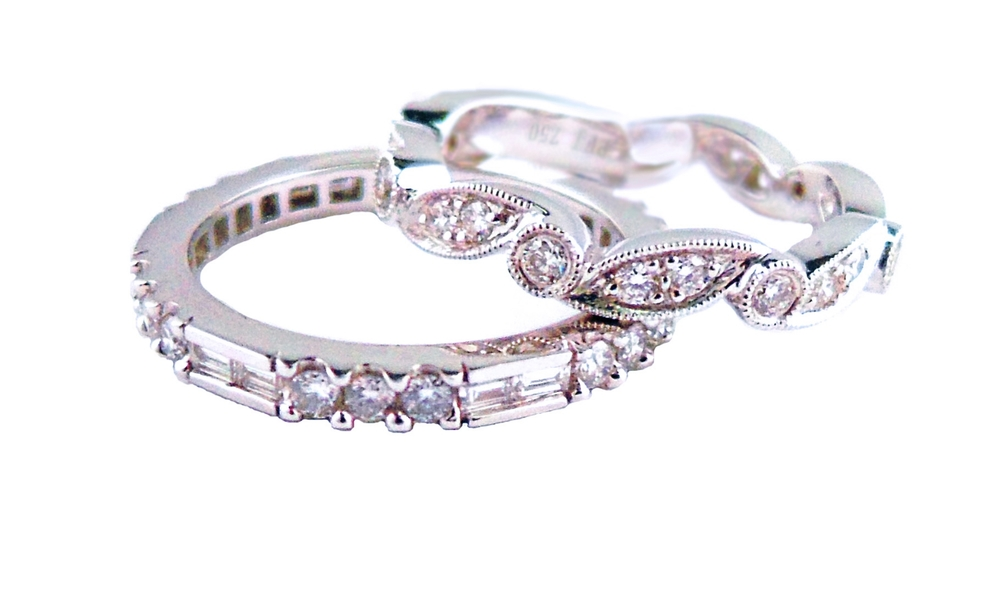 Stacking Diamond Eternity & Semi-Eternity Rings