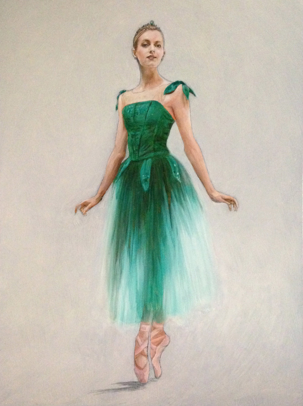 "Emeralds II, Oil on Panel, 24"" x 18"" Available via  Saatchi"