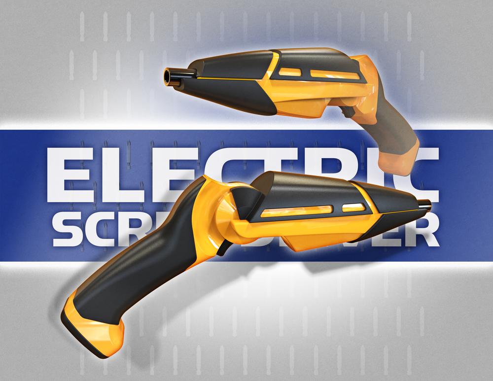 Static Renderings of Electric Screwdriver