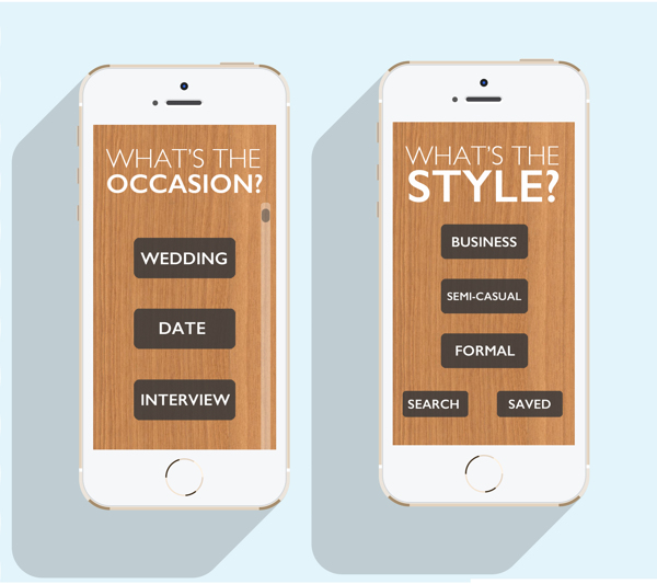 After uploading or just choosing an outfit, the app will guide the use to selected looks by their chosen style and occasion.