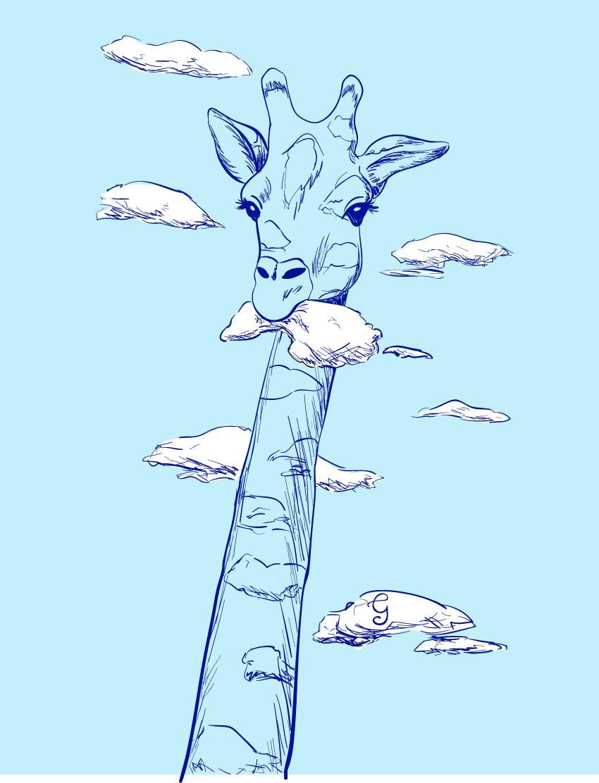 Cloud Eating Giraffe