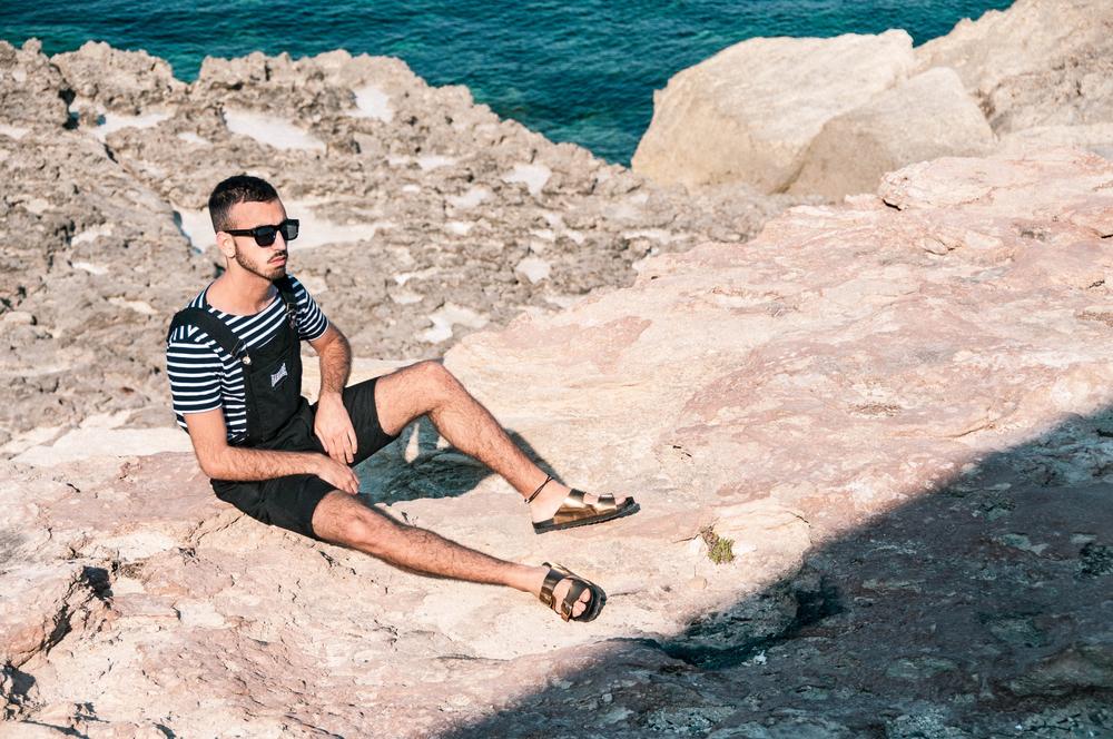 asos as seen on me dungarees beach