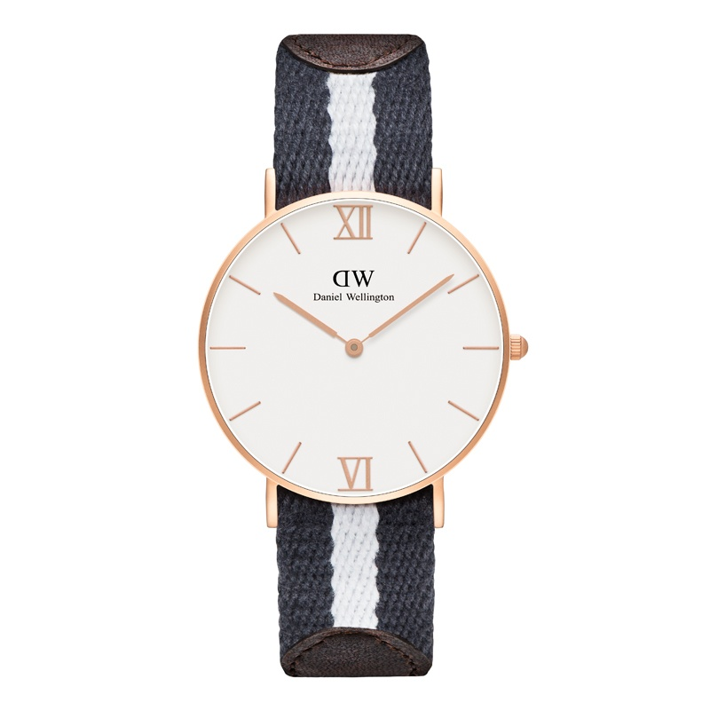 daniel wellington grace glasgow striped nato watch