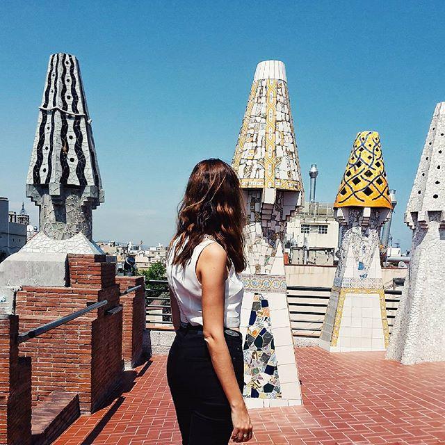 getting my gaudi fix #barcelona #gaudi #artnouveau #architecture #travels #fashion #fblogger #spain