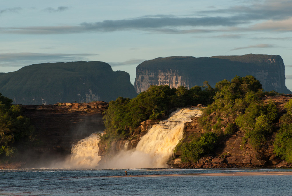 Tepui and Waterfall