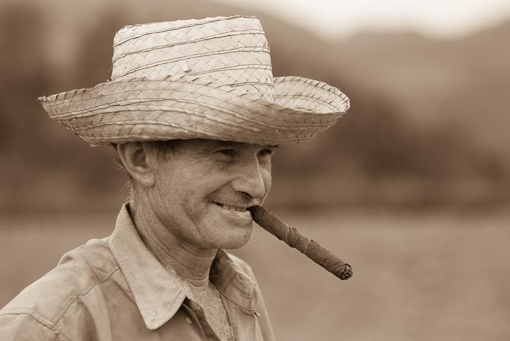 Cuban tobacco farmer (Sepia tone)