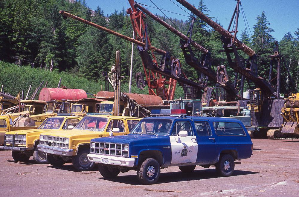 #10 — RCMP truck leaves Lyell Island