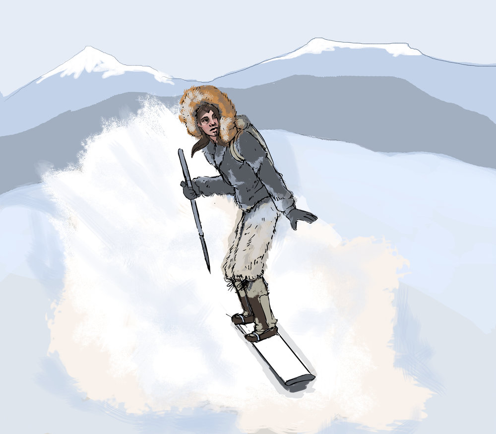 - Aima has a hunch as to the whereabouts of Zephrine's hideout. She has set off alone with her snowboard and her hunting weapons with a determination to stop her — not so much to save the planet but because she is seeking redemption for not having saved her friend.