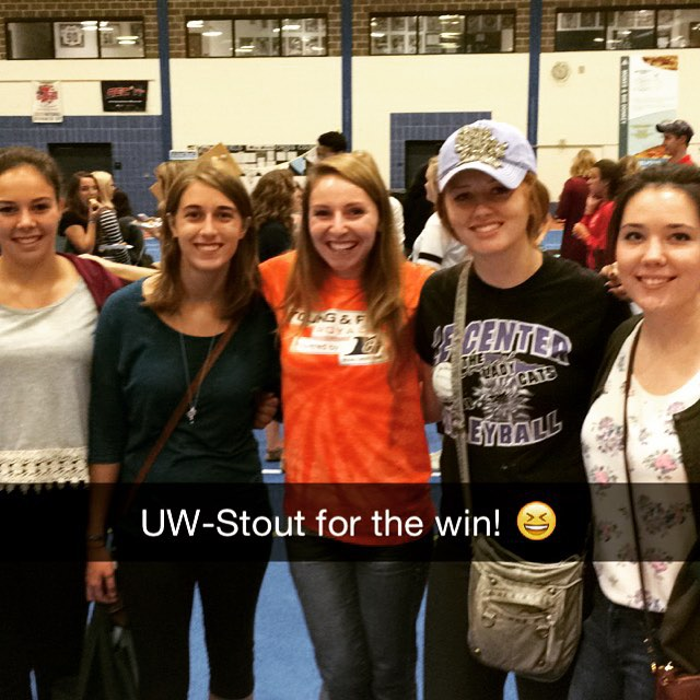 Had such a wonderful time at UW-Stout yesterday! Thank you all for being so fun. #royalcreditunion #uwstout #YoungFreeRoyal #bluedevils