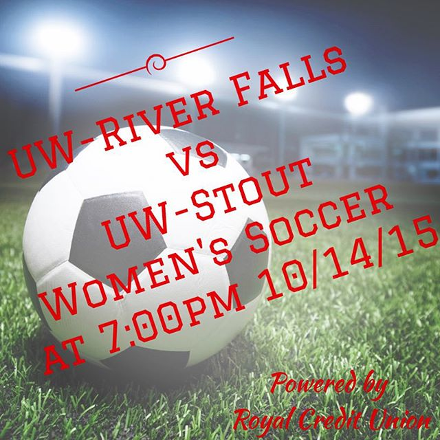 Come see me tonight at UW-River Falls for their soccer game against UW-Stout! I will have a booth set up and lots of fun swag to win.  #uwrf #uwstout #soccerislife #falcons #bluedevils #royalcreditunion #youngfreeroyal #RCU @uwriverfalls @uwstoutpics