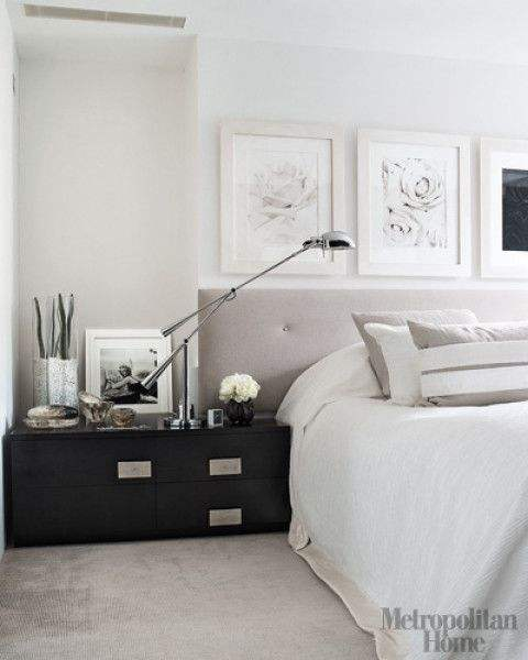 Image Credit    Gray can also be very calming and modern, this sleek bedroom is a perfect example of that.