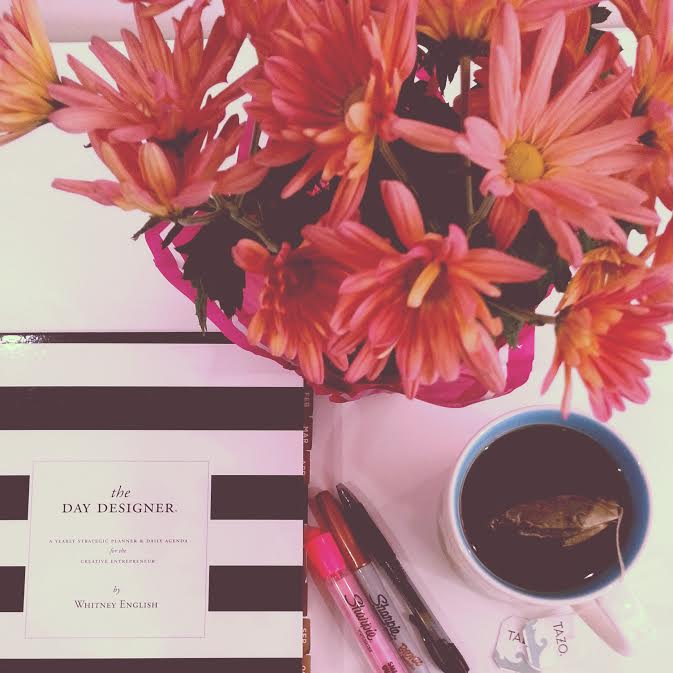 Beautiful flowers, stripes and tea make for the perfect Friday.
