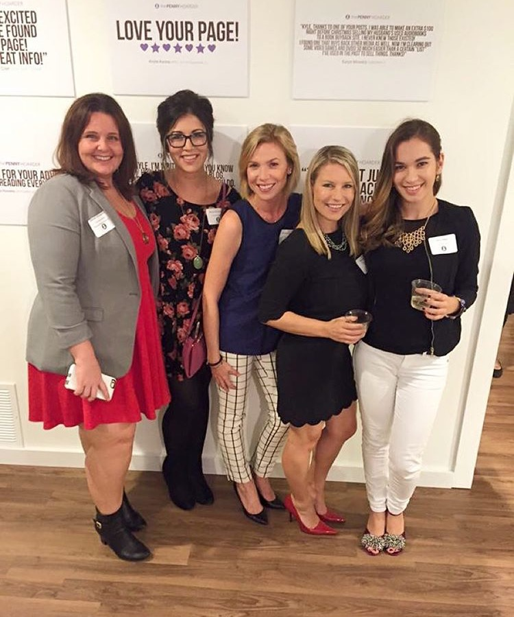 The Penny Hoarder, Lisa Gilmore Design & Hype Group celebrating the launch party for The Penny Hoarder HQ, November 2015