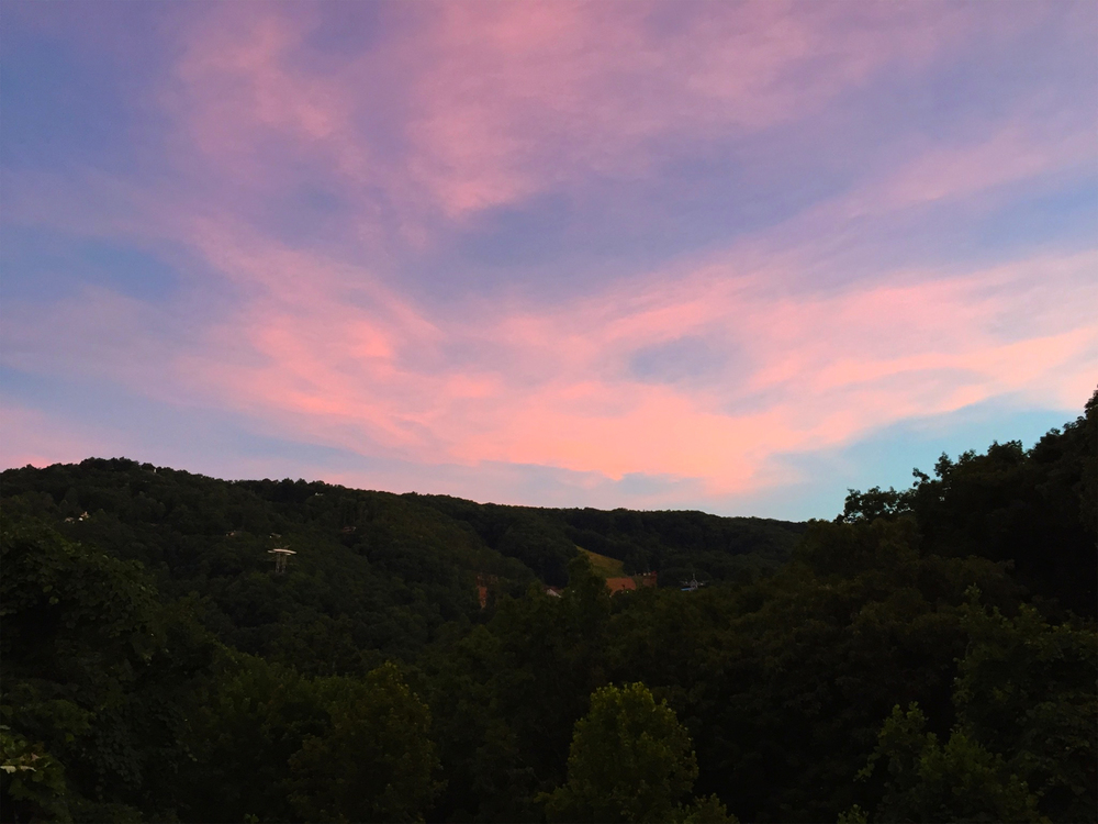 lisagilmoredesign. smokey mountain views sunset