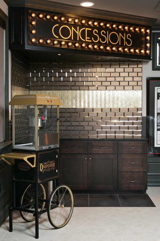 glam custom bar home theater