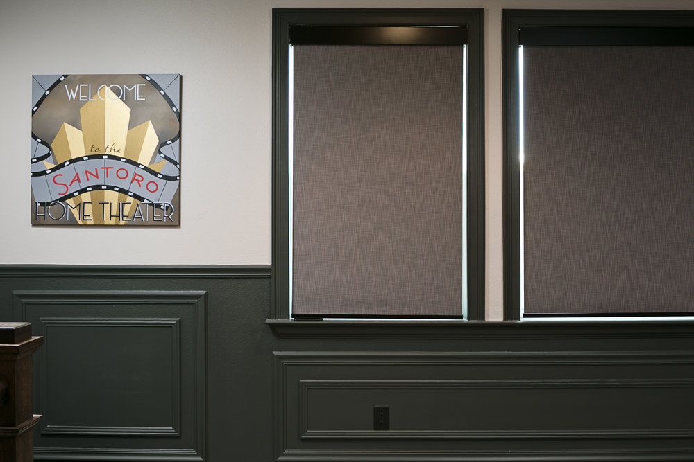 art deco custom home theater art