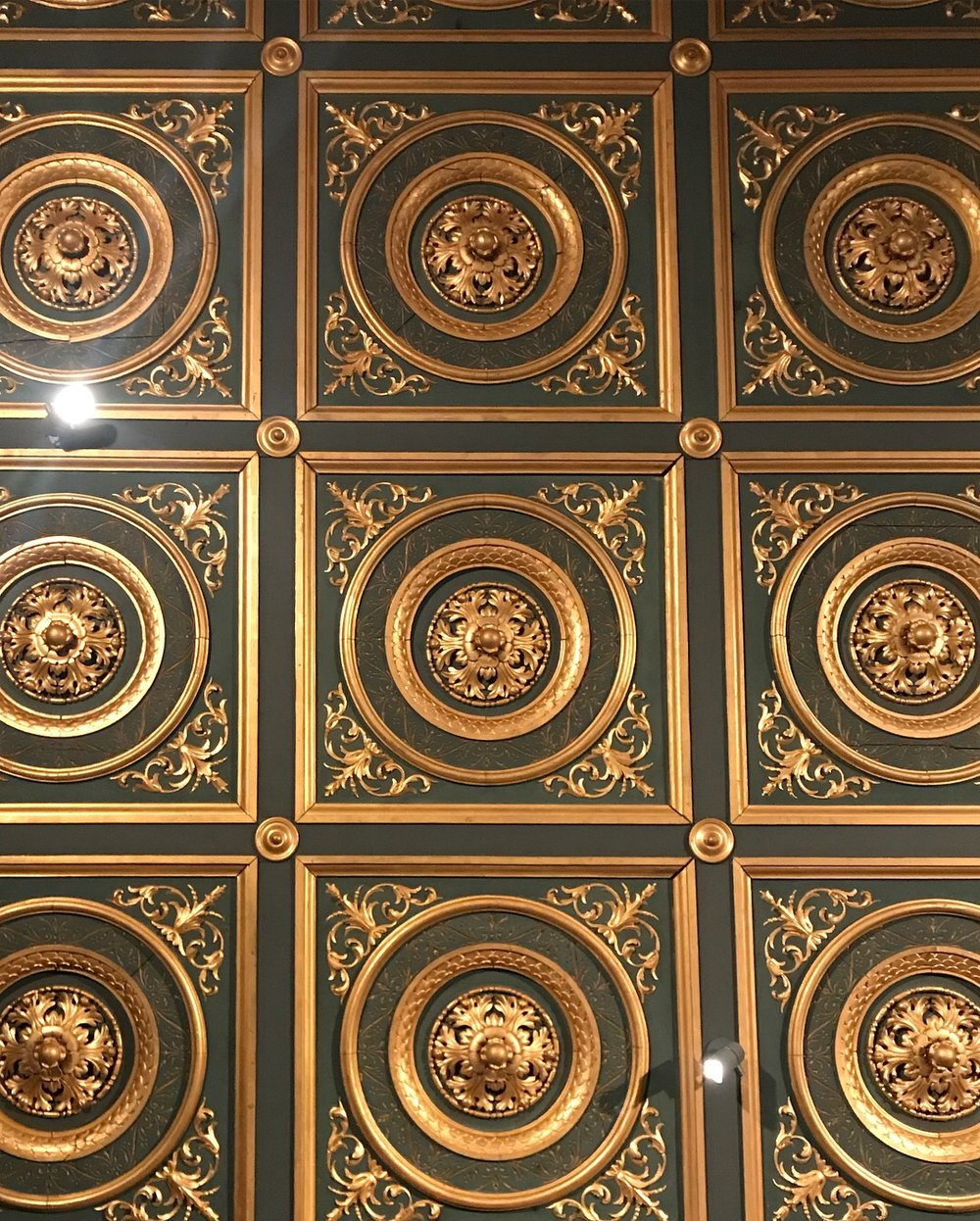 Isabella Stewart Gardner Estate gilded ceiling tile detail, LGD Team (Crystina Castiglione Photography).