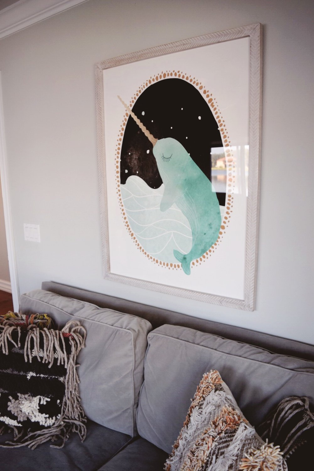Bringing in the Whimsy with Narwhals- the unicorns of the sea! -Lisa Gilmore Design