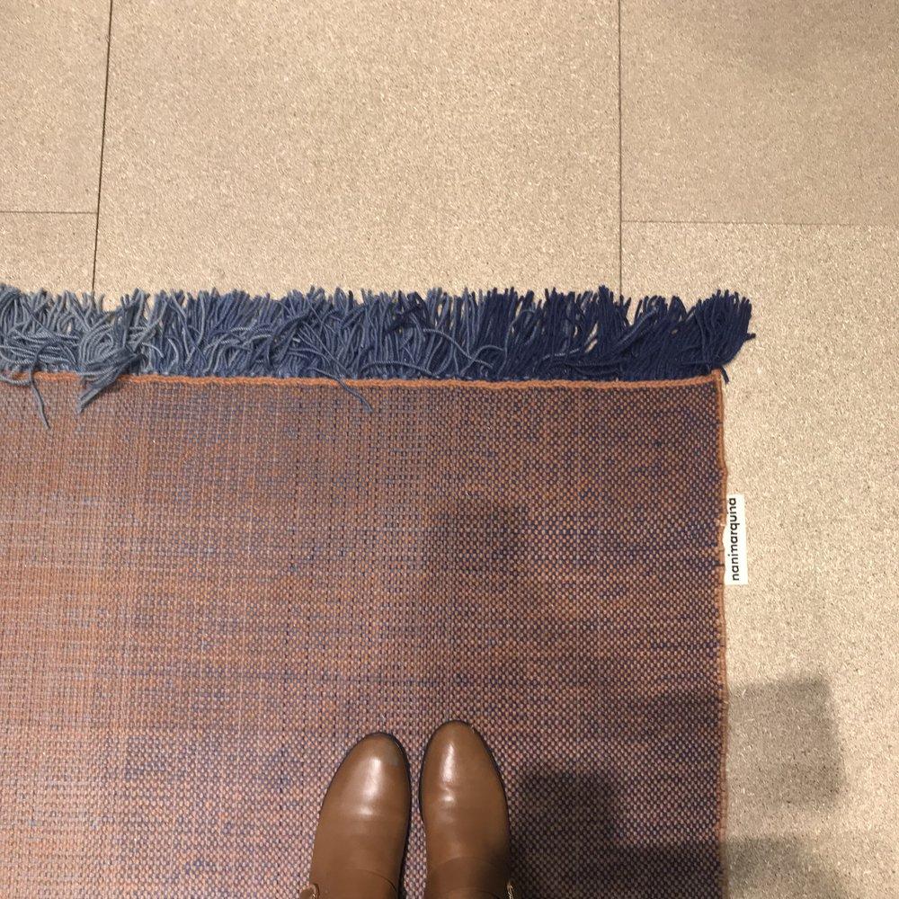modern braided rug