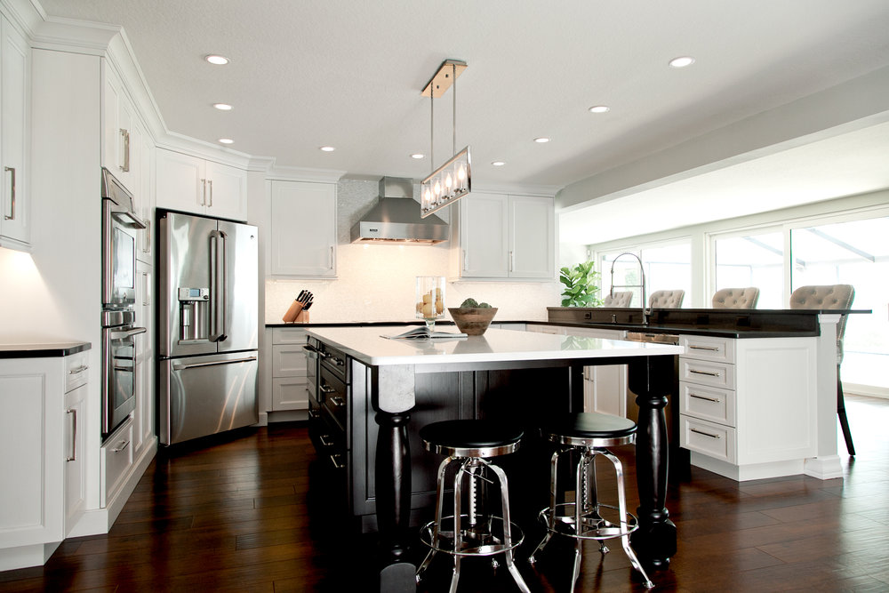 Dark flooring in kitchen_ luxury vinyl tile_wood