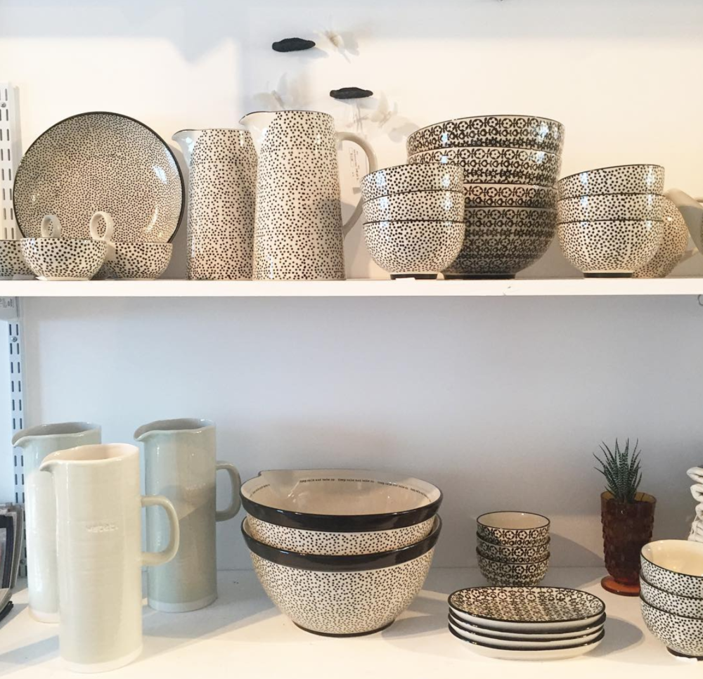 Texture. Photo of Store Kitchenware Vignette.  Instagram , texture_st.pete