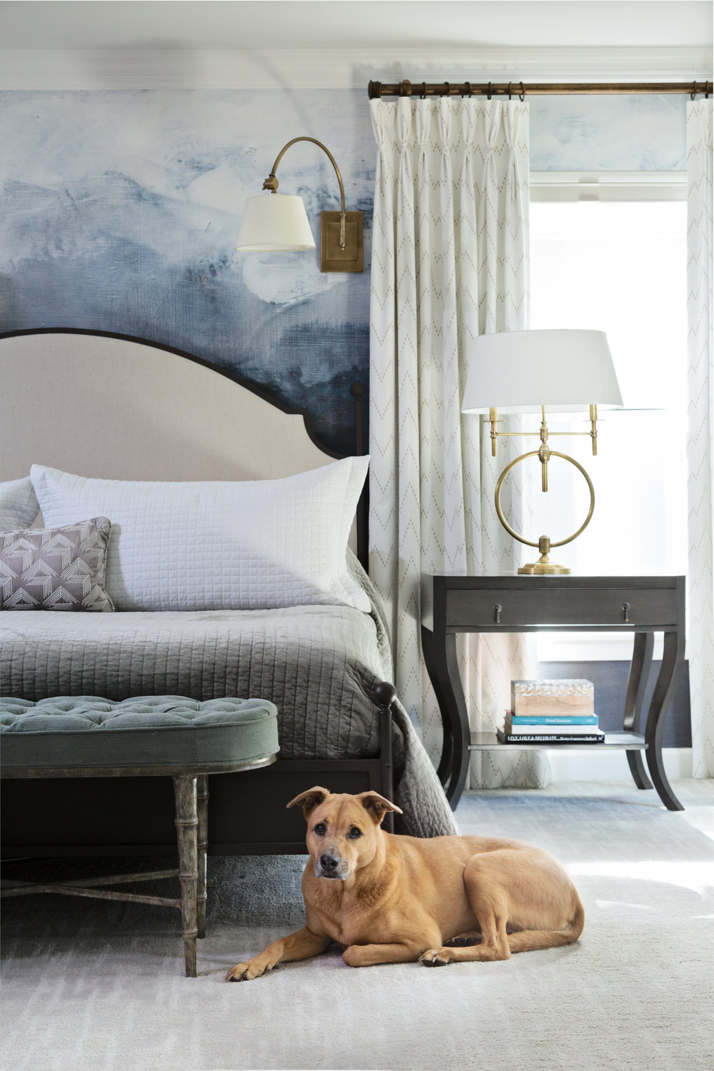 Master Bedroom by Lisa Gilmore Design