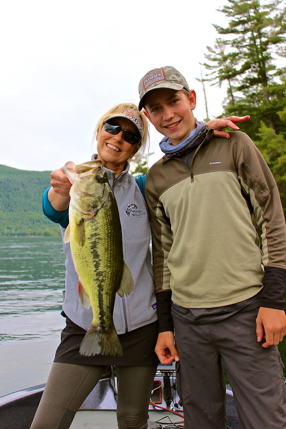 Sometimes Mom catches the bigger fish!