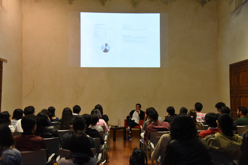 October 2017 Design Economy talk during the Abierto Mexicano de Diseño at Museo Interactivo de Economía - MIDE. Thanks for coming.
