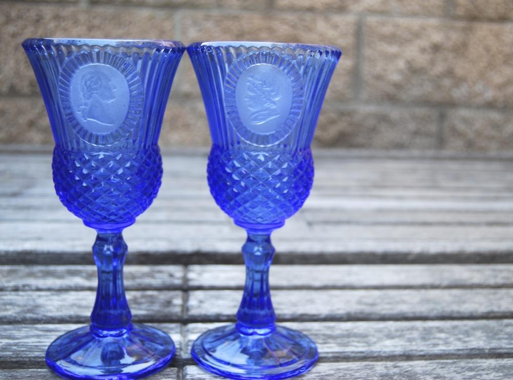 INDIGO WINE GLASSES