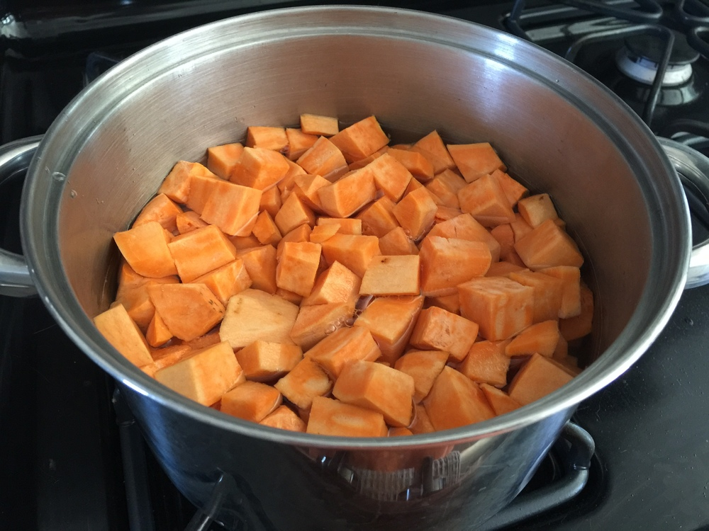 cubed sweet potato