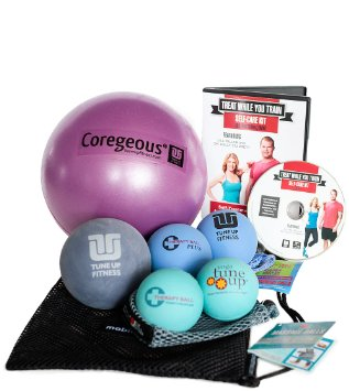 This all goes back to self care and recovery after a long workout.  Use these balls for rolling out your sore thighs, feet, back and more.  Bonus a DVD with ideas on how to use them included!