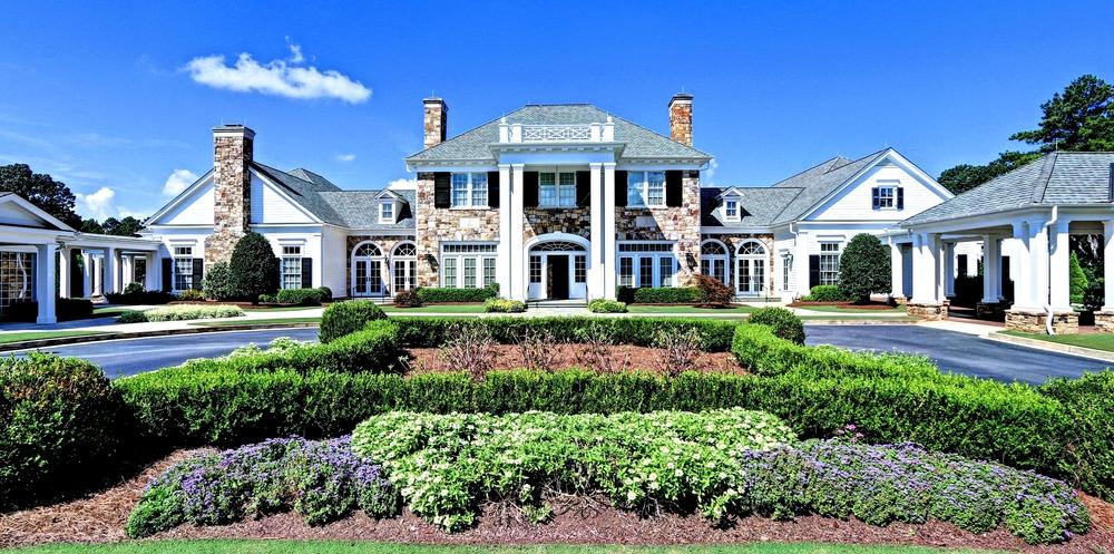 Atlanta country club foyer custom homes for Custom home builders in atlanta