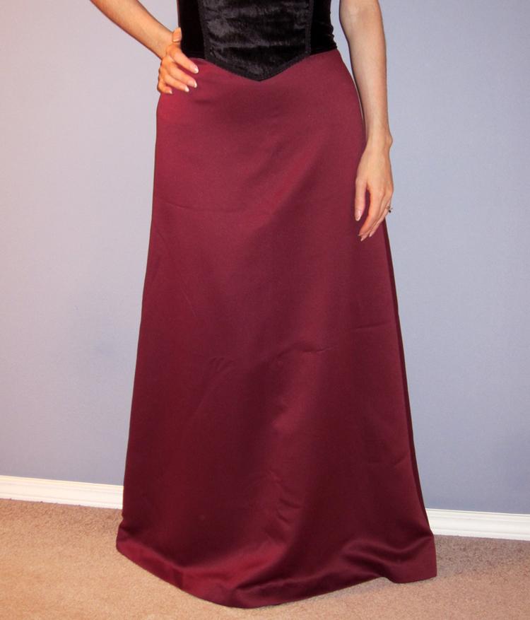 Burgundy Satin Ball Gown Skirt - Size 4 — Velvet Garden