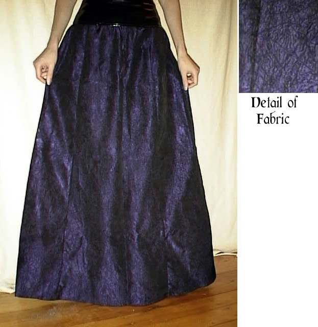 Purple Crinkle Taffeta Ballgown Skirt by Evolution - Size 5/6 ...