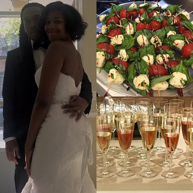 Congratulations to my beautiful niece Stephanie @s.j.stgr and her husband Koran on their recent nuptials. Welcome to the family and thank you for letting me cook the food. Shout to @jenniteach and @runtwolive for parenting such a great child. #carimabey #weddingcaterer #nychef #hireme