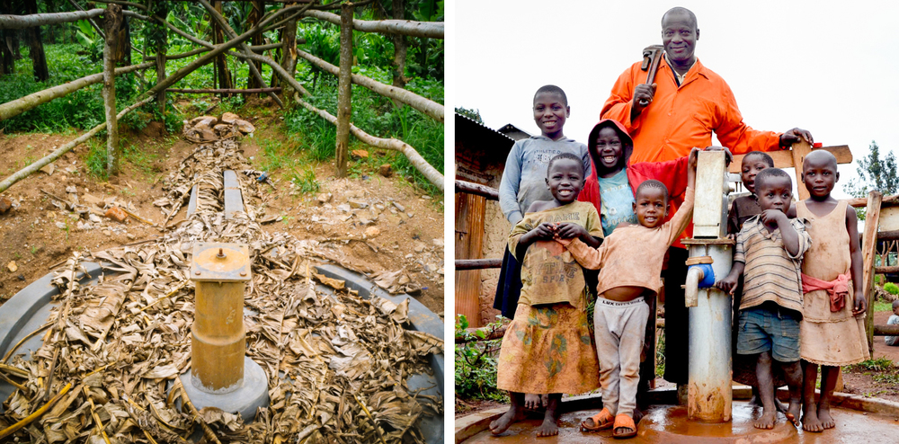 A village well: before and after