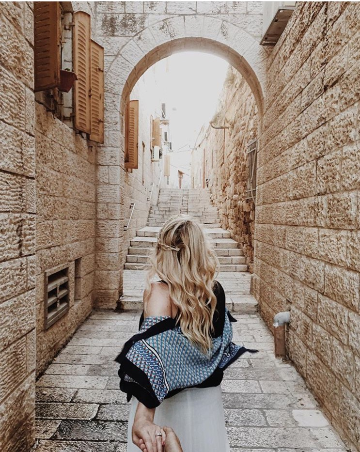 @jessicabakken on the streets of Jerusalem, taken by @imalbertabound