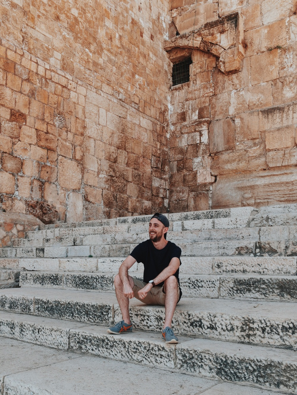 @cjcasciotta  on the Southern Steps of the Temple Mount, taken by @philipleclerc