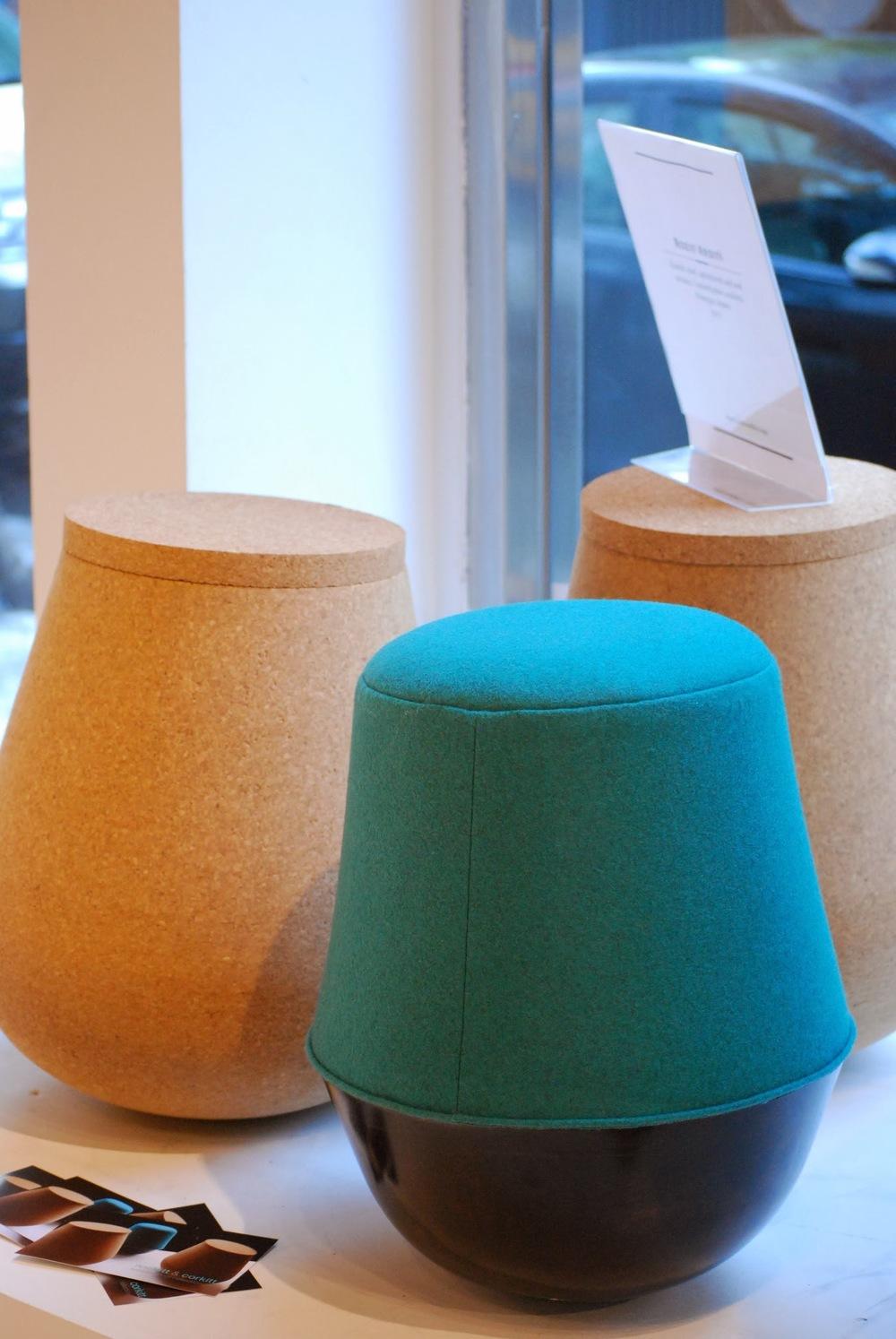 Rozit Arditi 's Rockitt & corkitt tumbler stool collection