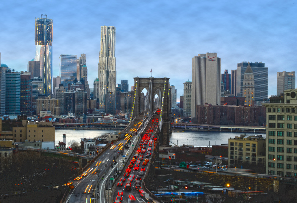 New York City Skyline from Dumbo, Brooklyn (results with HDR effect)