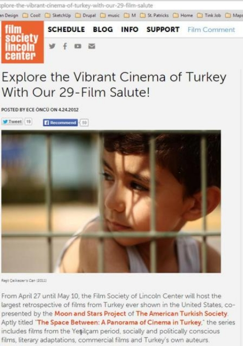 Explore the Vibrant Cinema of Turkey With Our 29-Film Salute!,  Film Society , April 24, 2012