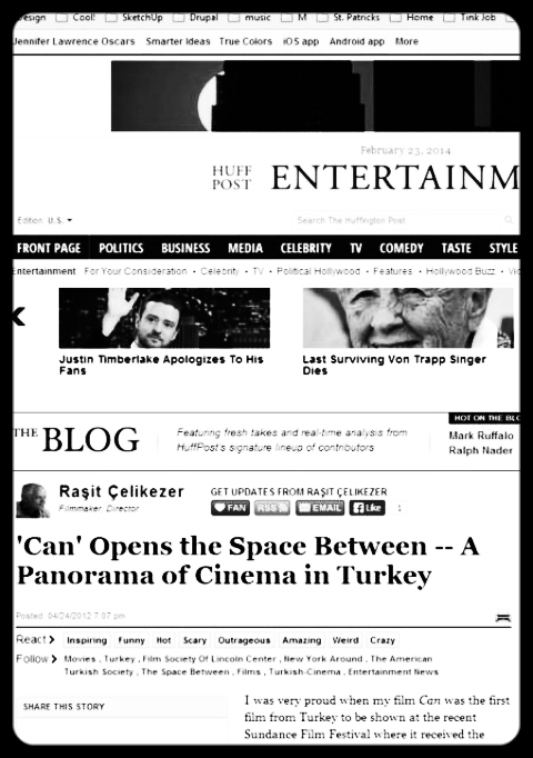 'Can' Opens the Space Between -- A Panorama of Cinema in Turkey,  Huffington Post ,  April 4, 2012