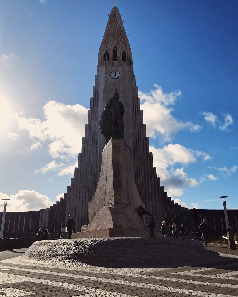 Hallgrímskirkja, the large church in the middle of Reykjavik.