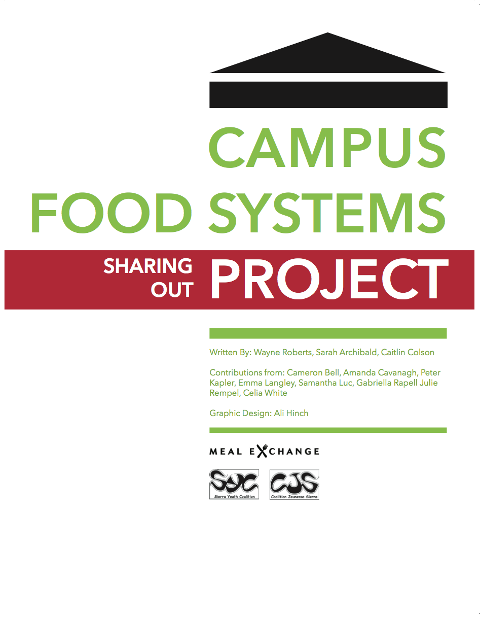 Campus Food Systems Project: Sharing Out Cover