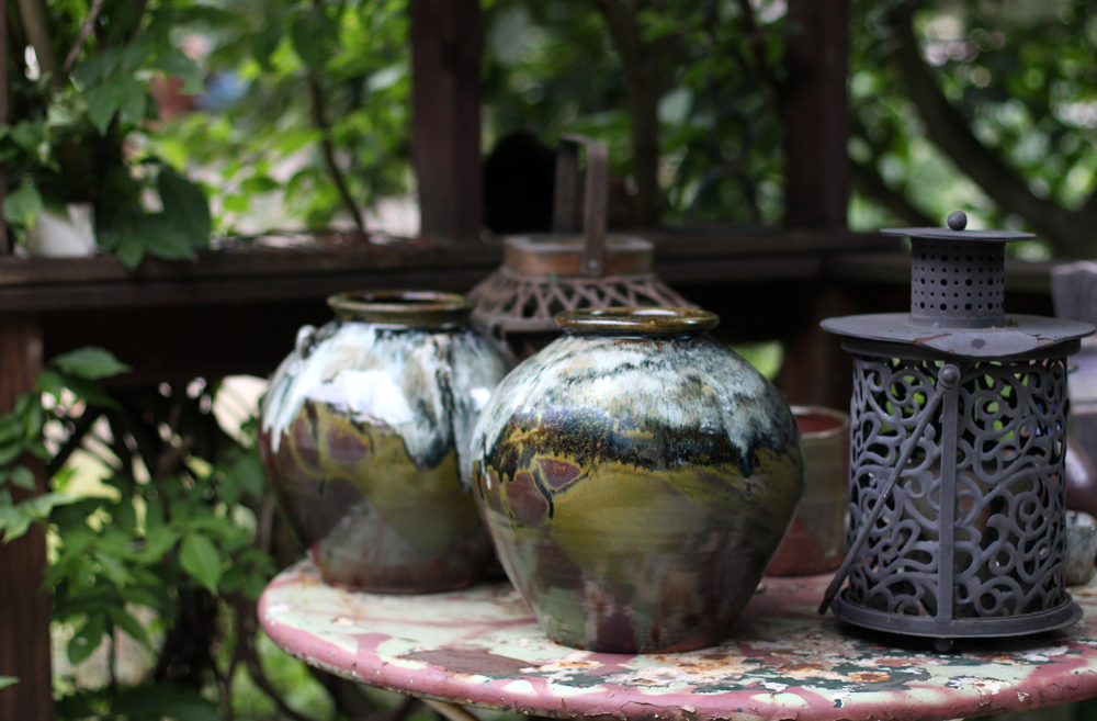 Pottery on Outdoor Table.jpg