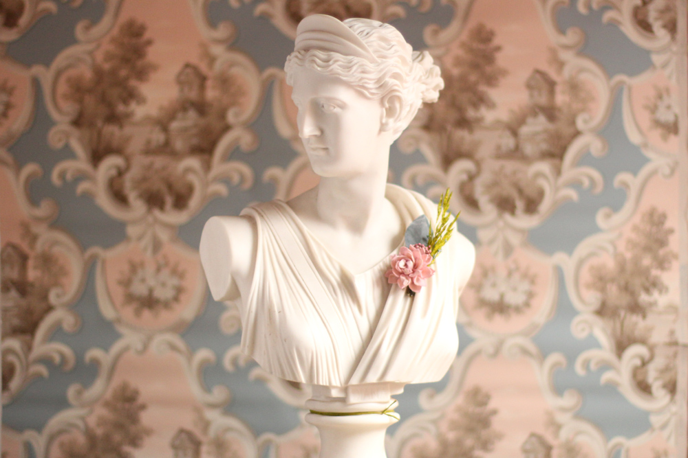 Spring Boutonniere on Statue.jpg